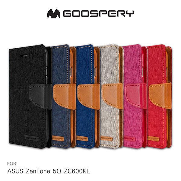 *Phone寶*GOOSPERY ASUS ZenFone 5Q ZC600KL 網布皮套 插卡 可站立 保護套