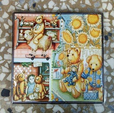 ~浪漫349~單款價18~  lt b  gt 0  lt b  gt .9~18CM 印刷木板畫小品居家鄉村掛飾 小熊系列兒童房彩虹太陽花綿羊