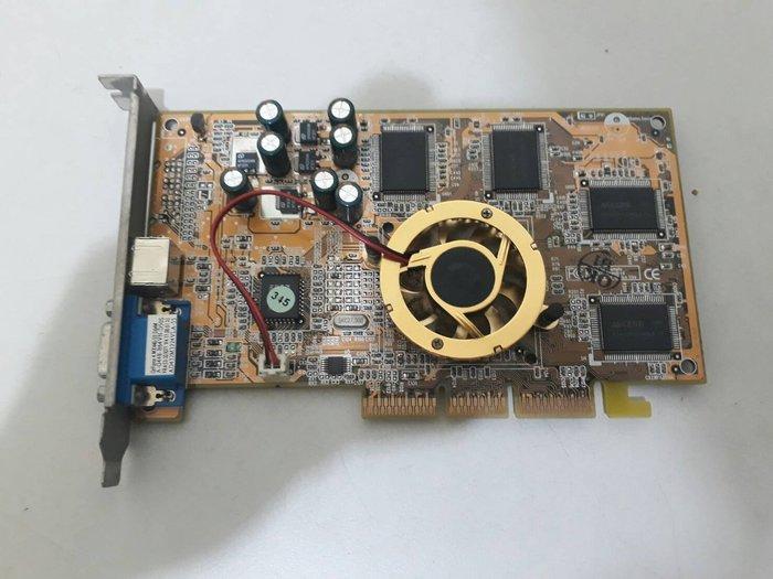 台中電腦維修 - 中古頂堅科技 MX440 AGP 顯示卡 (限自取/非人為因素保固三天)