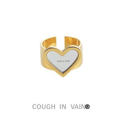 SC STORE~COUGH IN VAIN R 心形鏡面反射戒指