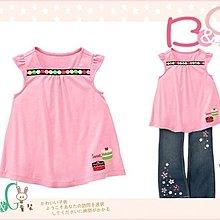 【B& G童裝】正品美國進口GYMBOREE蛋糕圖樣粉紅色短袖上衣8yrs