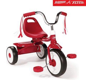 美國RadioFlyer-紅騎士折疊三輪車(彎把)#411A