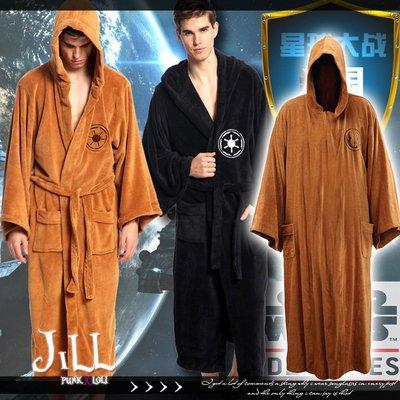 Oo吉兒oO星際大戰Star Wars電影周邊 銀河帝國絕地武士風格連帽浴袍/睡衣【J1F5003】