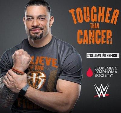[美國瘋潮]正版WWE Roman Reigns Tougher Than Cancer Tee 征服病魔最新克癌款衣服