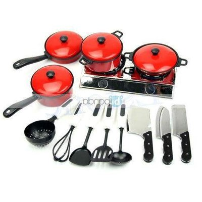 1set pans play house toy  utensils pots kids cooking