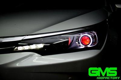 GAMMAS-HID GMS  TOYOTA NEW ALTIS 11.5代 GMS 6代 遠近魚眼 LED 飾圈01