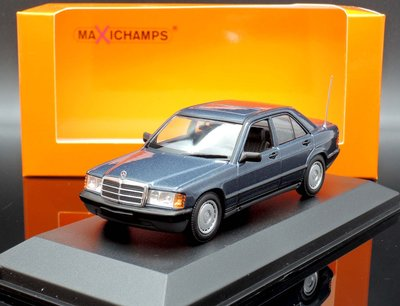 【MASH】現貨特價 Maxichamps 1/43 Mercedes-Benz 190E 1984 藍