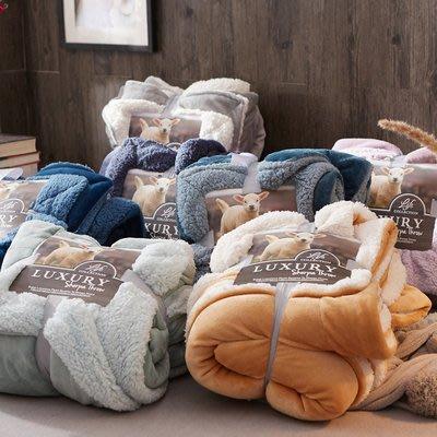 毛毯 雙層加厚珊瑚絨毯子冬季單人雙人羊羔絨小毛毯法蘭絨辦公室午睡毯 多色-閨蜜裝-可開發票