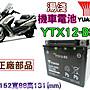 電池達人☆YUASA湯淺 重型機車電池 YTX12- B...