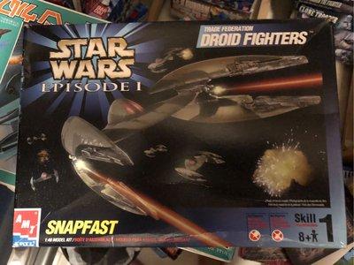 星球大戰(STAR WARS)-Episode 1-Droid Figters (全新)連地台 - 1 盒
