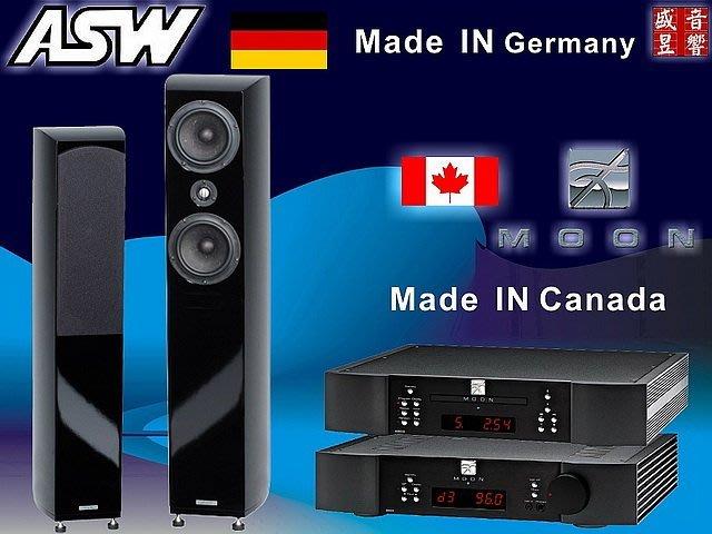加拿大 Moon Neo 340i 綜合擴大機+ Neo 260D 播放機+德國 ASW GENIUS 410 喇叭