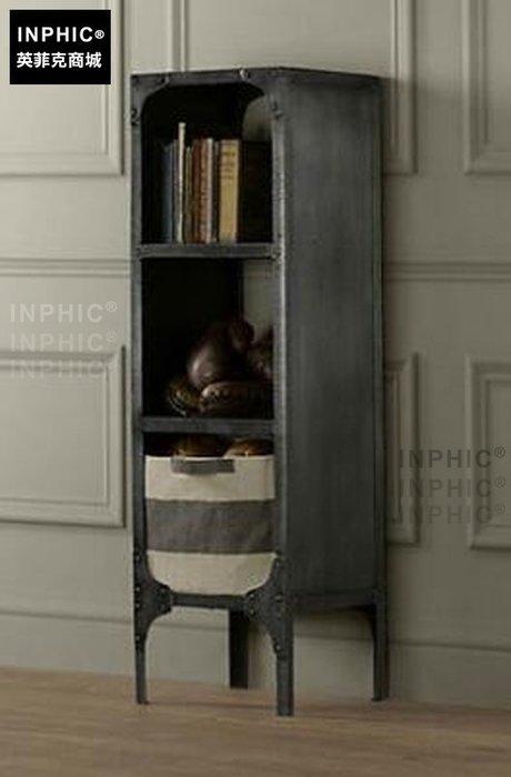 INPHIC-美式復古鐵藝餐邊櫃鐵皮文件櫃收納櫃客廳儲物鐵櫃廚房酒水櫃-單格_S1877C