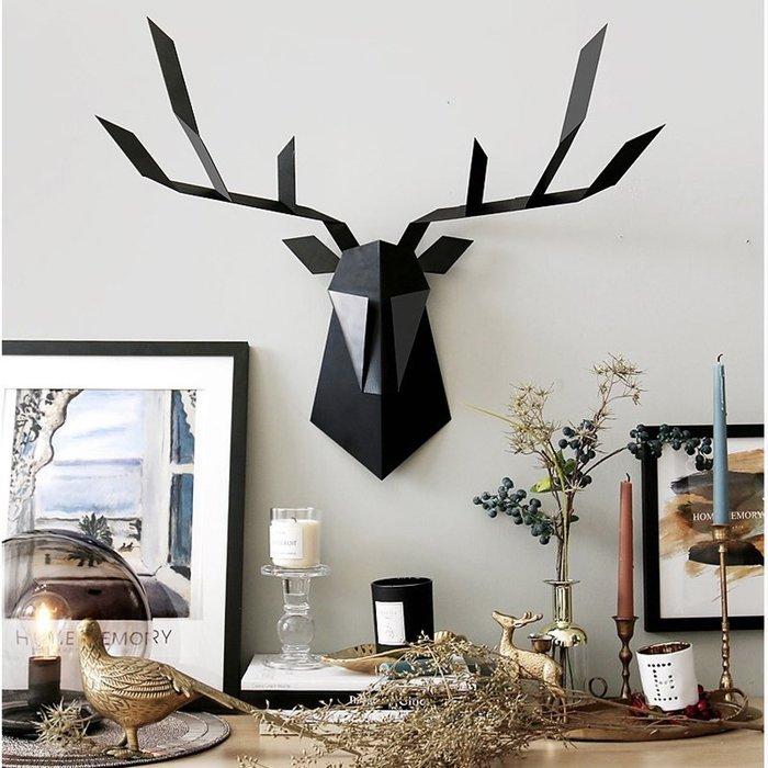 【Uluru 】工業風格 黑色/白色 鹿頭 裝飾 掛飾 工業風格 室內設計規劃