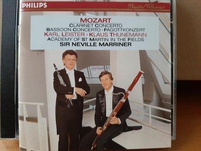 Leister,Thunemann,Marriner,Mozart-Clarinet·Bassoon.c萊斯特·圖恩曼,馬利納指揮,莫扎特-單簧管·巴松管協奏曲