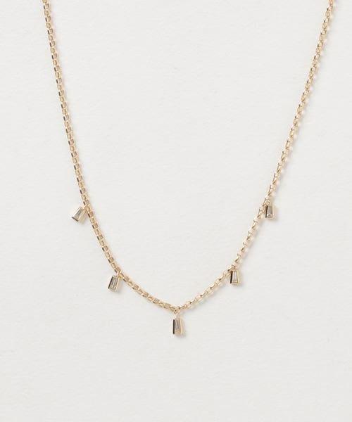 【日本代購】小店主的購物小店:BELLESIORA 項鍊 K18YGダイヤモンドネックレス 40184316032