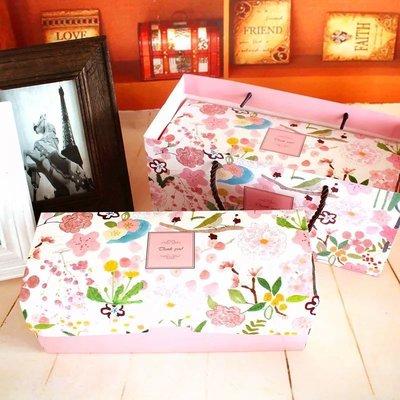 (盒+袋)春色滿園蛋糕捲禮盒組 蛋糕捲包裝盒 曲奇餅乾 烘焙包裝 甜甜圈 彌月 結婚 禮盒 磅蛋糕 水果條 生乳捲包裝盒