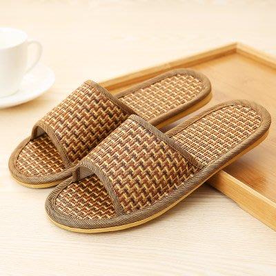亞麻拖鞋夏季竹子底藤草編涼拖鞋男女室內居家用亞麻防滑夏天軟底