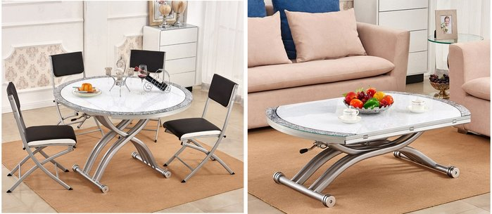 【森林原木手工家具】時尚升降茶几、餐桌