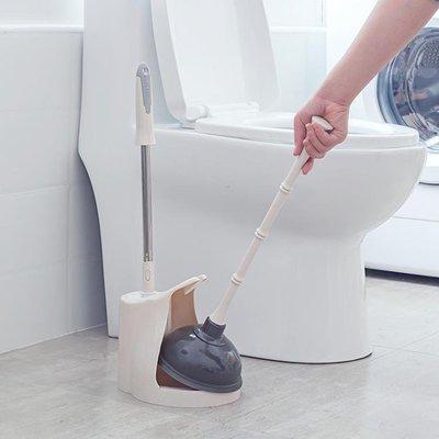 馬桶刷疏通器廁所桶下水道疏通神器管道堵塞皮搋子馬桶吸水拔套裝   全館免運