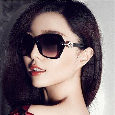 【T3】2015時尚范冰冰同款太陽眼鏡 夏天必備 歐美復古太陽眼鏡墨鏡 UV400 黑色【I10】
