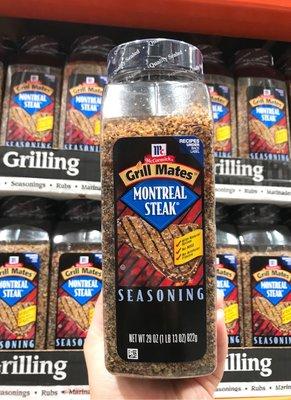 Costco好市多 MCCORMICK 味好美 蒙特婁口味牛排調味粉 822g Montreal Steak Grill Mates Grilling