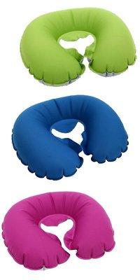 BLUE PINE 旅行U型充氣枕Travelling Pillow旅遊好幫手 B71601~☆‧°小荳の窩 °‧☆㊣