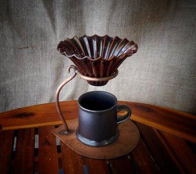 【多塔咖啡】日本製 美濃燒 百摺裙濾杯 摺紙濾杯 咖啡色款 1-2人份 錐型濾杯 V60 適用錐形01濾紙 手沖咖啡濾杯