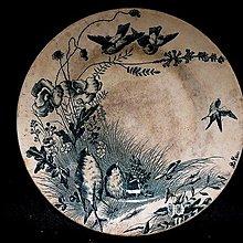 【 金王記拍寶網 】 F2012 早期 老印刷貿易瓷盤  老印花印刷老品 工藝很美 (正老品) 罕見稀少 一件
