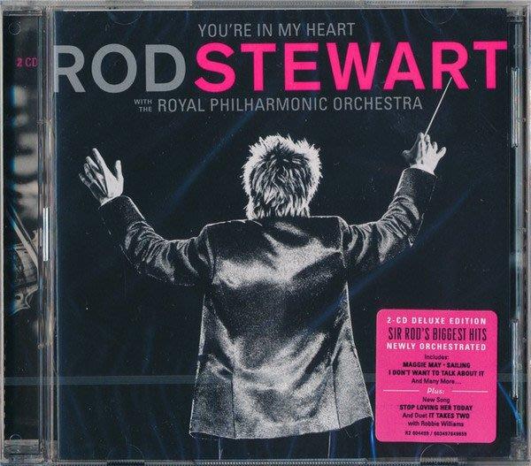 正版2CD《常駐我心:洛史都華與皇家愛樂交響樂團》 雙CD豪華盤/You're In My Heart: Rod Ste