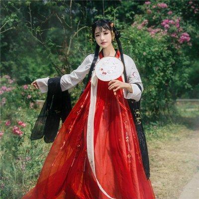 【瓊華夢】國色芳華原創獨家繡花披帛漢服搭配百搭齊胸對襟襦裙