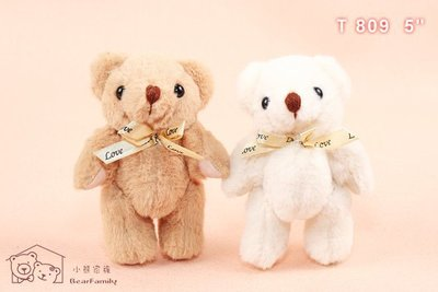 可愛迷你雙色小熊 一組10隻 全身13公分 四肢可轉動 婚禮 佈置小物~*小熊家族*~泰迪熊專賣店~