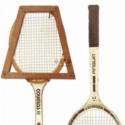 【Uluru】歐洲期貨壁紙.北歐簡約 vintage tennis rackets 老式網球拍 壁紙 HE108系列
