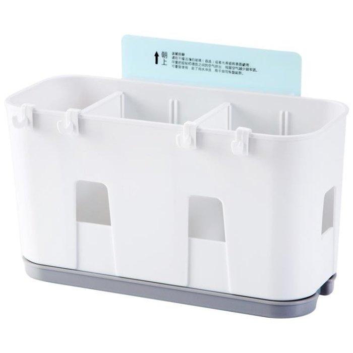 掛式筷籠瀝水筷子架家用筷子籠 廚房塑料勺子收納架筷子筒Y-優思思
