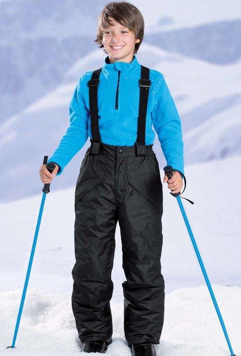 東大門平價鋪 外貿單板戶外兒童背帶滑雪褲,男女款防風防水保暖加厚背帶衝鋒褲