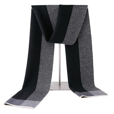 圍巾 羊毛 披肩-針織加厚雙面雙色男配件4色73wh15[獨家進口][米蘭精品]