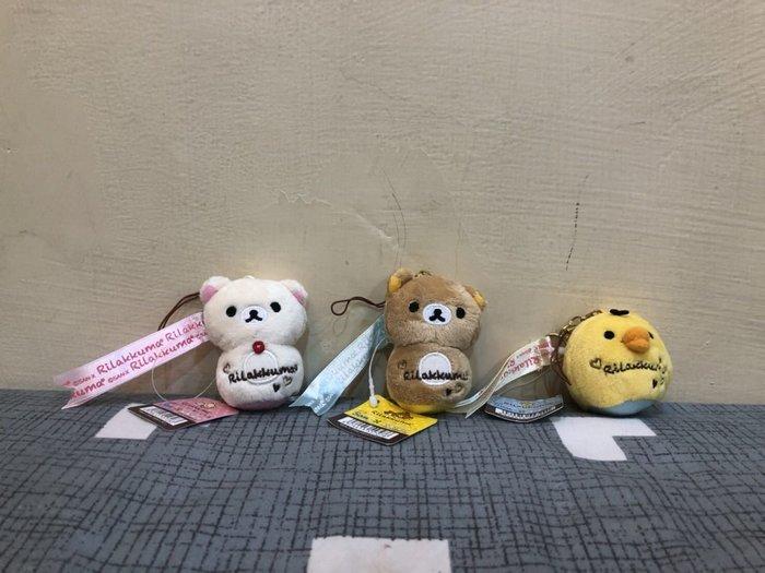 *凱西小舖* 日本正版 SAN-X_Rilakkuma拉拉熊 懶懶熊 懶熊妹 黃色小雞 不倒翁 螢幕擦吊飾