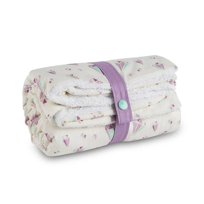 〖洋碼頭〗法國原產母嬰用品Carotte-Cie嬰兒毯新生兒抱毯爬行毯鑽石印花 L3133
