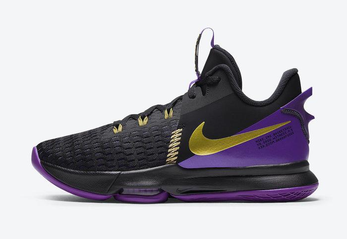 """沃皮斯§Nike LeBron Witness 5 """"Lakers"""" 黑紫 湖人配色 籃球鞋 CQ9381-001"""