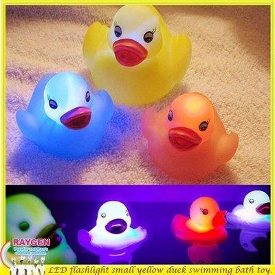 八號倉庫  遊戲 玩具 洗澡 戲水 發光 黃色小鴨 七彩 燈光 【1B010X741】