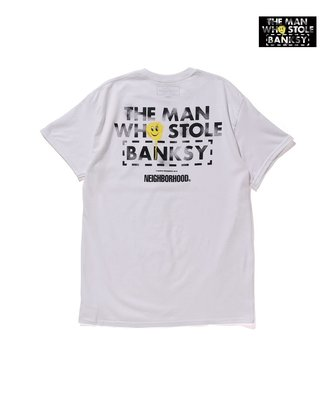 """NEIGHBORHOOD """"THE MAN WHO STOLE BANKSY"""" 短T S 18 SS NBHD"""