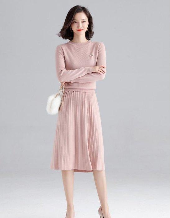 百褶針織裙套裝 1118   米蘭風情