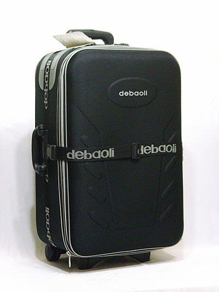 【葳爾登】25吋登機箱旅行箱,EVA拉桿行李箱,防潑水航空箱/反光logo登機箱25吋黑3004