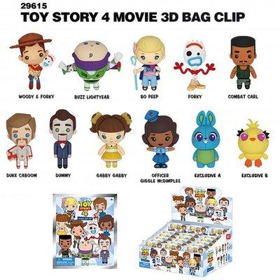 [Paradise] Toy Story 4 - 迪士尼 3-D人偶鑰匙圈袋抽系列 24代 玩具總動員4 - 隨機單抽