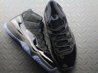 Air Jordan 11 Blackout AJ11 全黑 伽馬藍 籃球鞋 378037-005