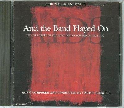 """樂隊繼續演奏/世紀的哭泣 And the Band Played On""- Carter Burwell(13),美版"