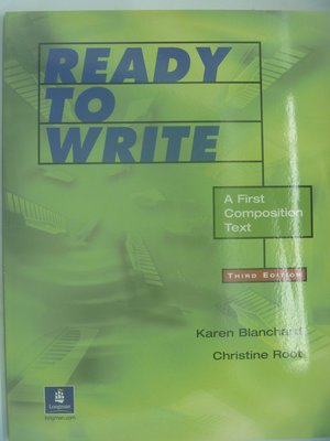 【月界二手書店】Ready to Write:A First Composition Text-3版 〖語言學習〗AHK