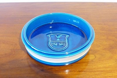 Turquoise Glazed Ceramic Dish by Herman Kähler