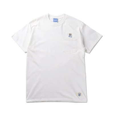 Freaky House-日本Audience UCLA小熊刺繡口袋寬鬆版T-Shirt白色