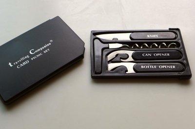 名牌 Travelling Companion 露營野餐 隨身型卡片式器具,非瑞士刀