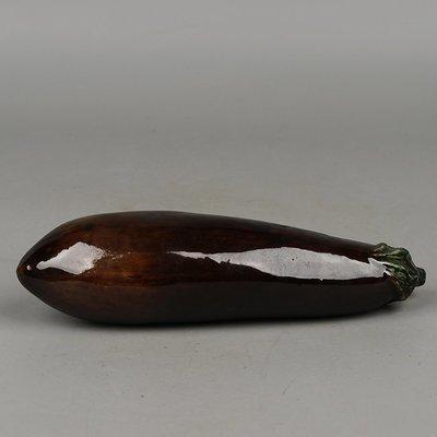 古瓷民國仿生瓷器茄子 古玩古董老貨舊貨民間收藏